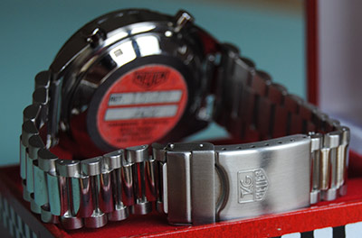 Bracelet with Tag-Heuer buckle for late black Skipper credit: Anthony Receveur