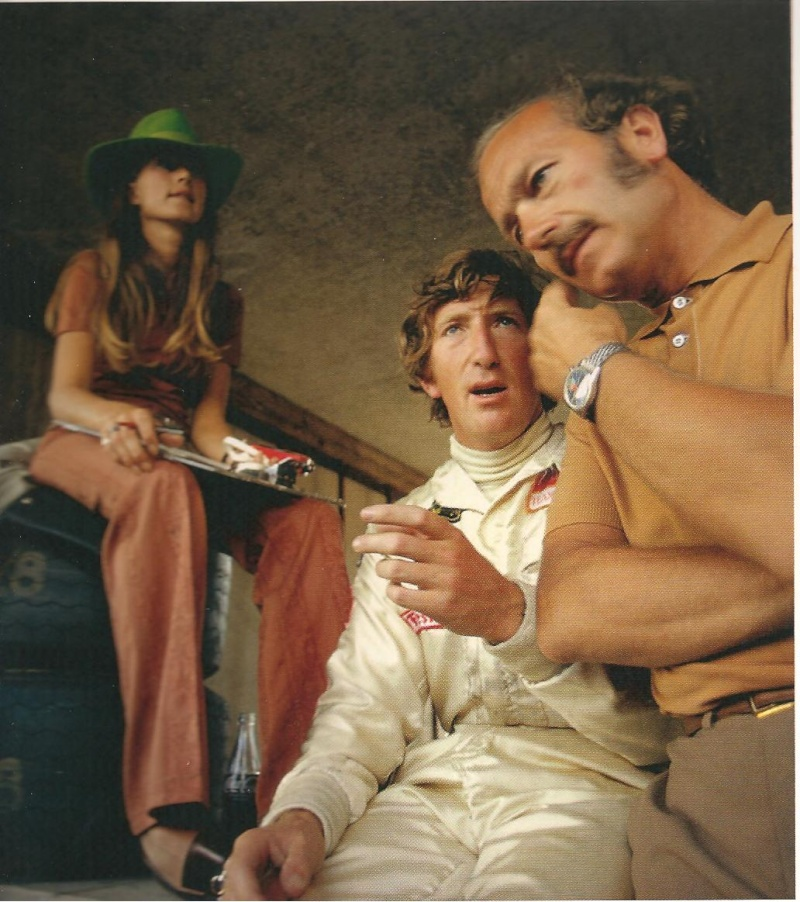 Colin Chapman with Skipperera, Jochen and Nina Rindt credit: Djayrom