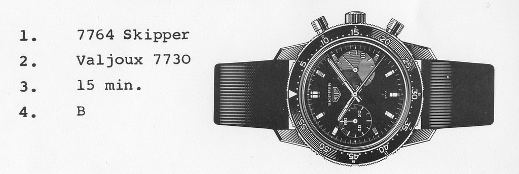 Heuer Skipper 7764 in 2446 Autavia Case credit: onthedash.com