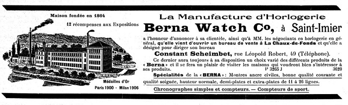 Berna_Watch_Co__Inserate_FH__30__Oktober_1909_A_700x212